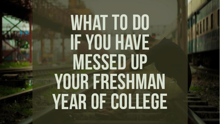 freshman year of college