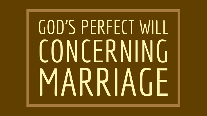 God's will marriage