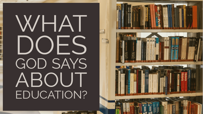 what God says about education
